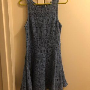 BB Dakota Lace Dress -- French Blue -- Size 12